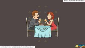 Clipart restaurant romantic dinner. A couple enjoying date