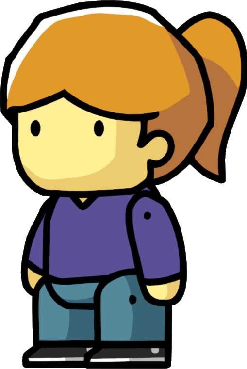 Image teenager female png. Restaurants clipart scribblenauts