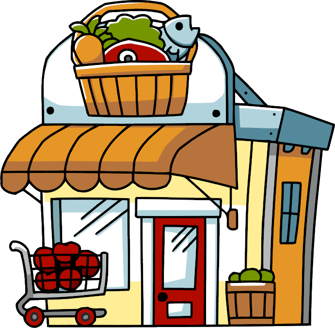 Restaurants clipart grocery store building. Scribblenauts wiki fandom powered
