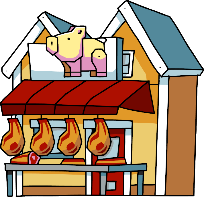 Restaurants clipart scribblenauts. Butcher shop wiki fandom