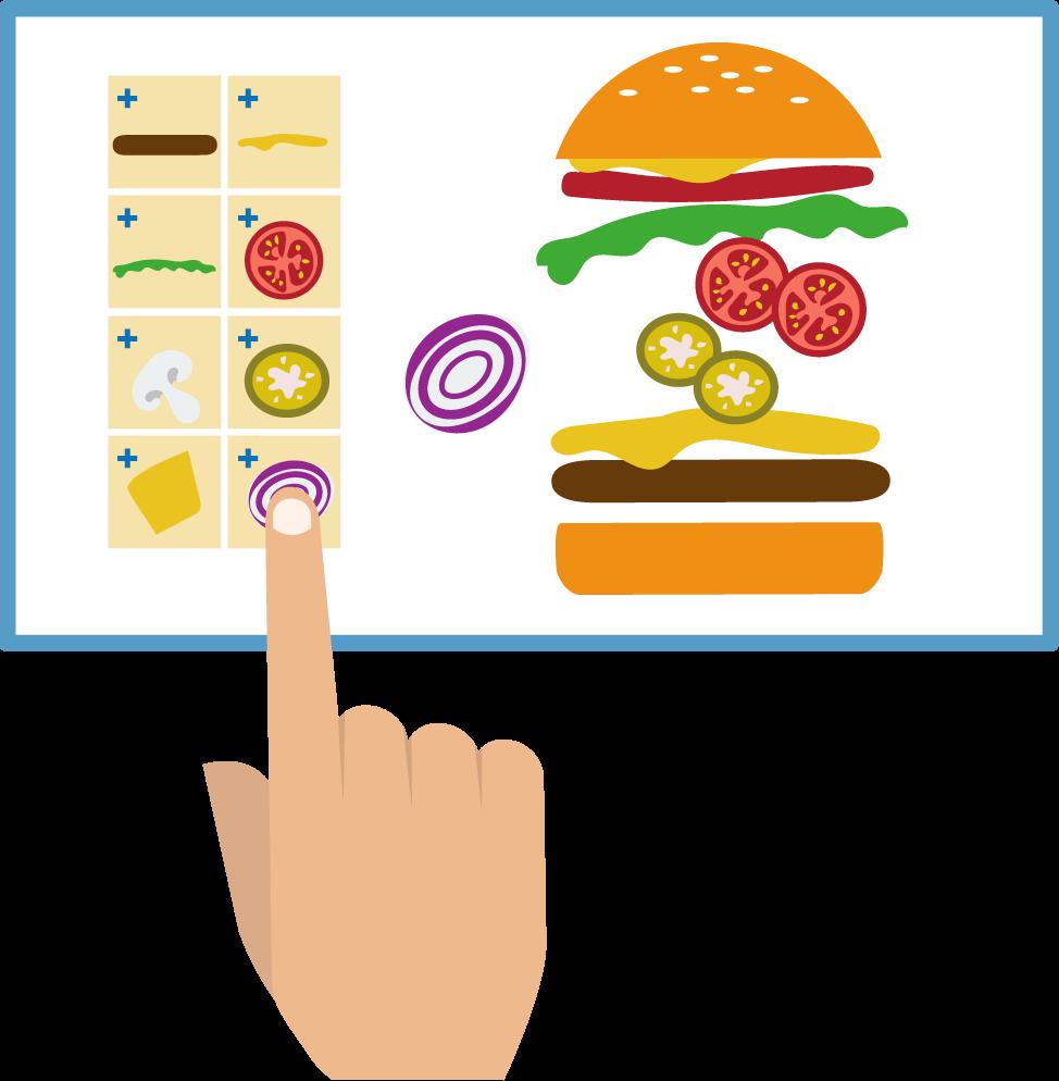 Restaurants clipart signage. Digital for quick service