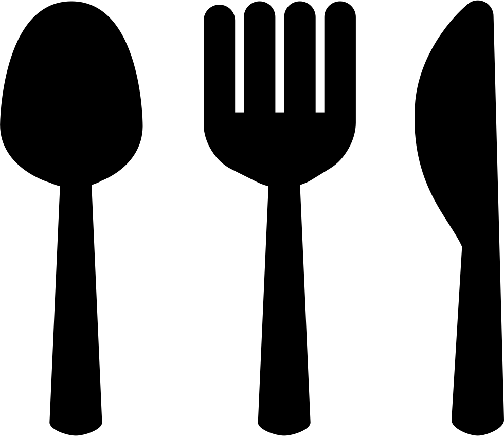 Spoon Fork And Knive Silhouettes Restaurant Symbol Svg Png Icon Free