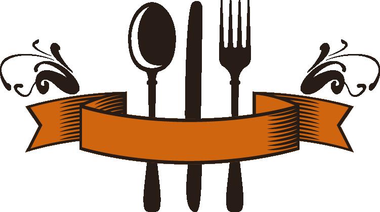Knife logo restaurant abstract. Restaurants clipart spoon fork