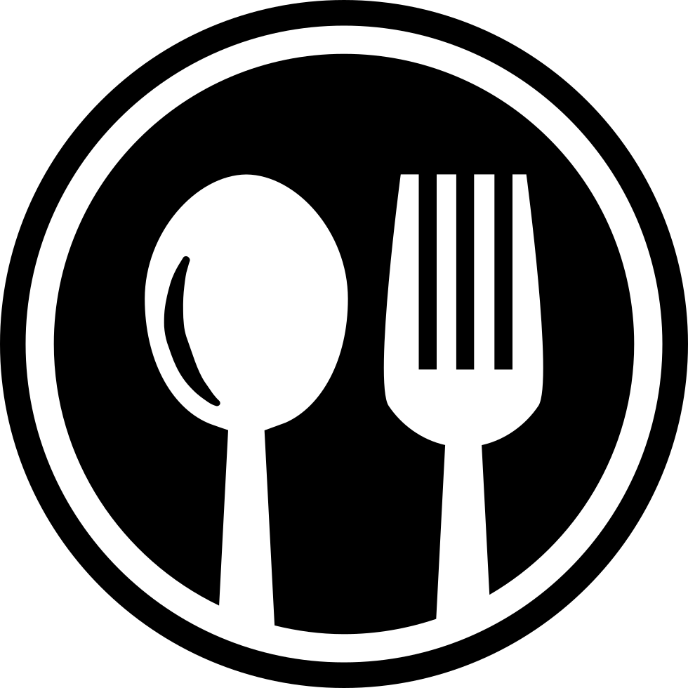 Restaurant cutlery circular symbol. Restaurants clipart spoon fork
