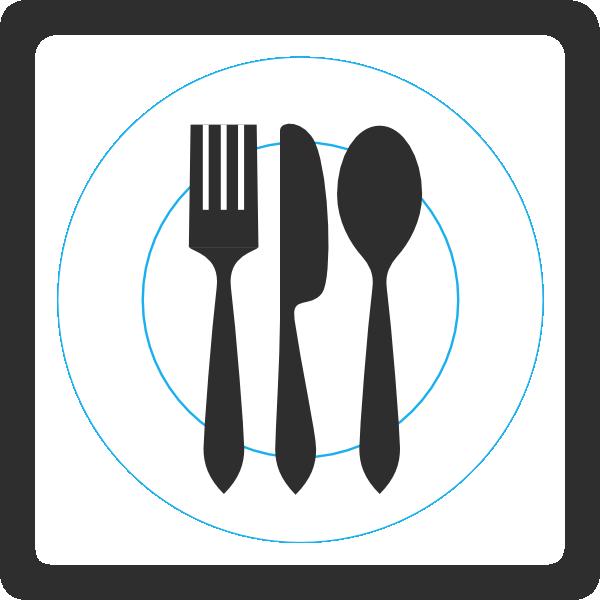 Clipart restaurant spoon fork. Symbol clip art at