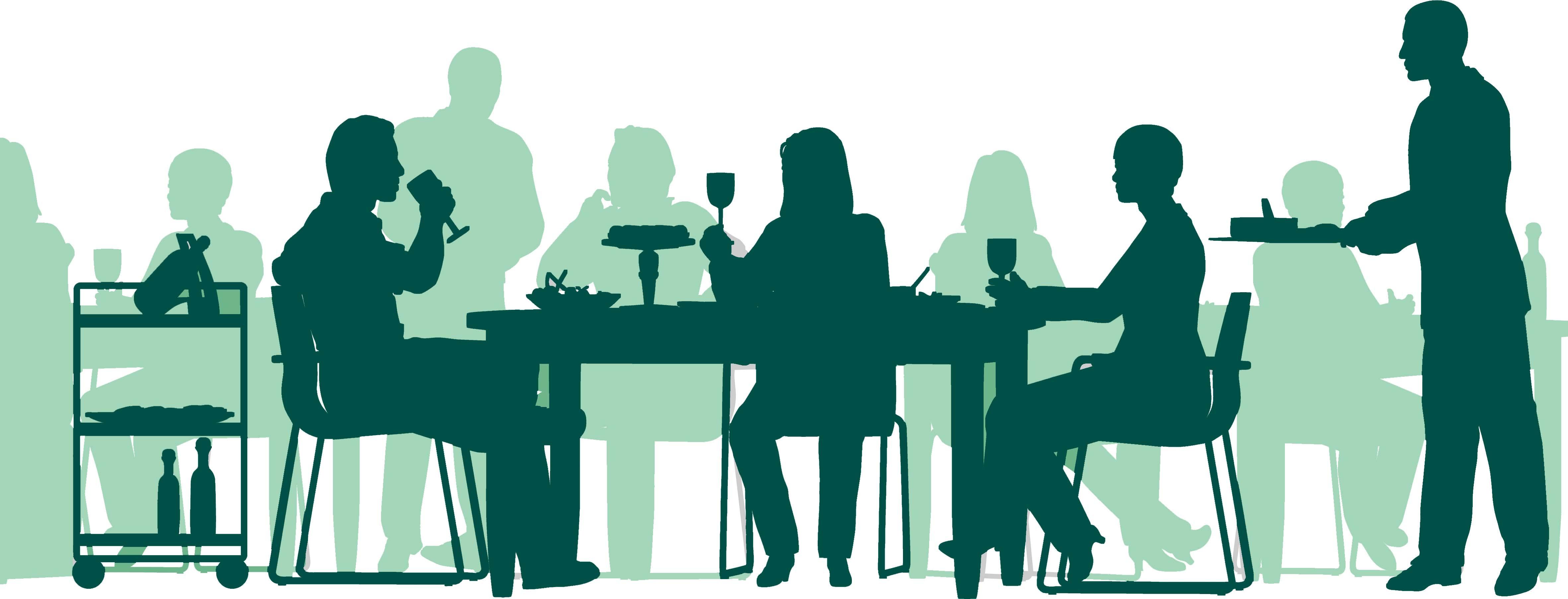 Business meeting clip art. Clipart restaurant team dinner