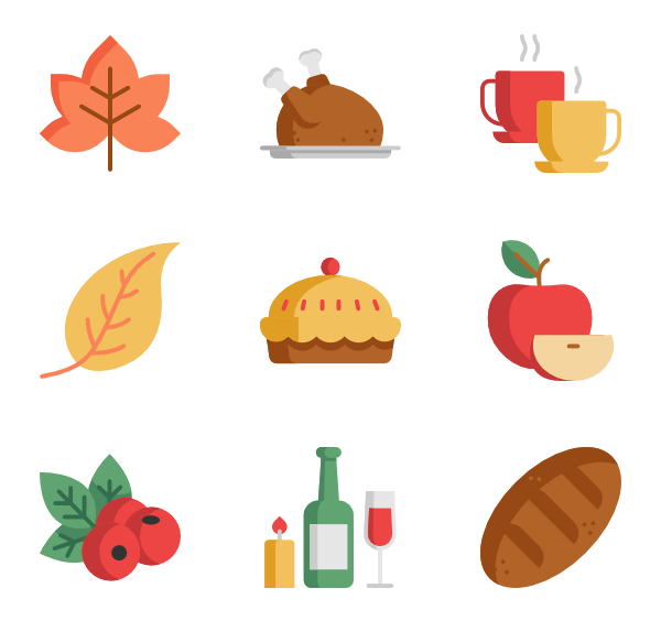 Icons free vector thanksgiving. Clipart restaurant team dinner