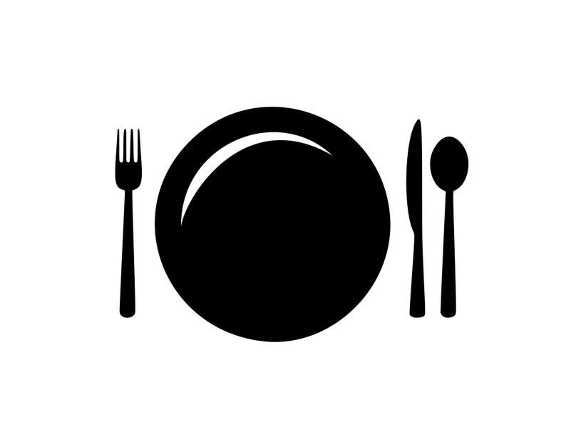 Dinner clipart utensil. Restaurant svg kitchen dishes