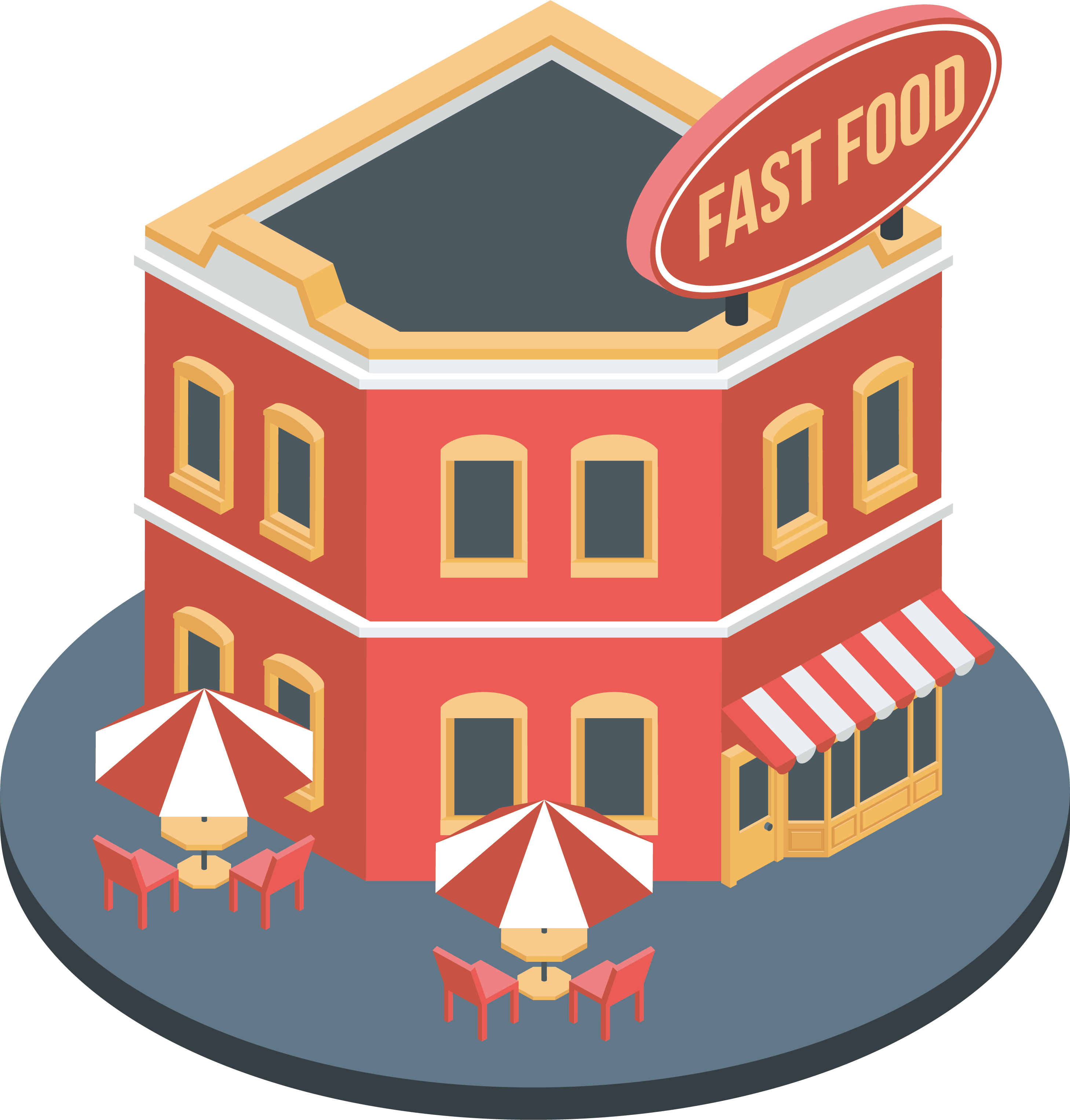 Clipart restaurant transparent. Fast food images gallery