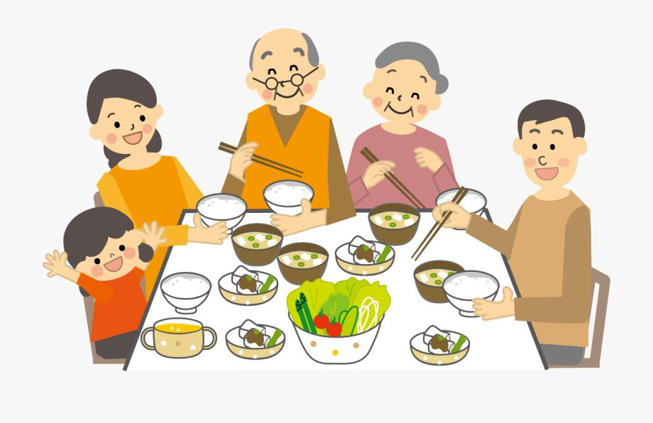 Meal eating have a. Pastor clipart family feast