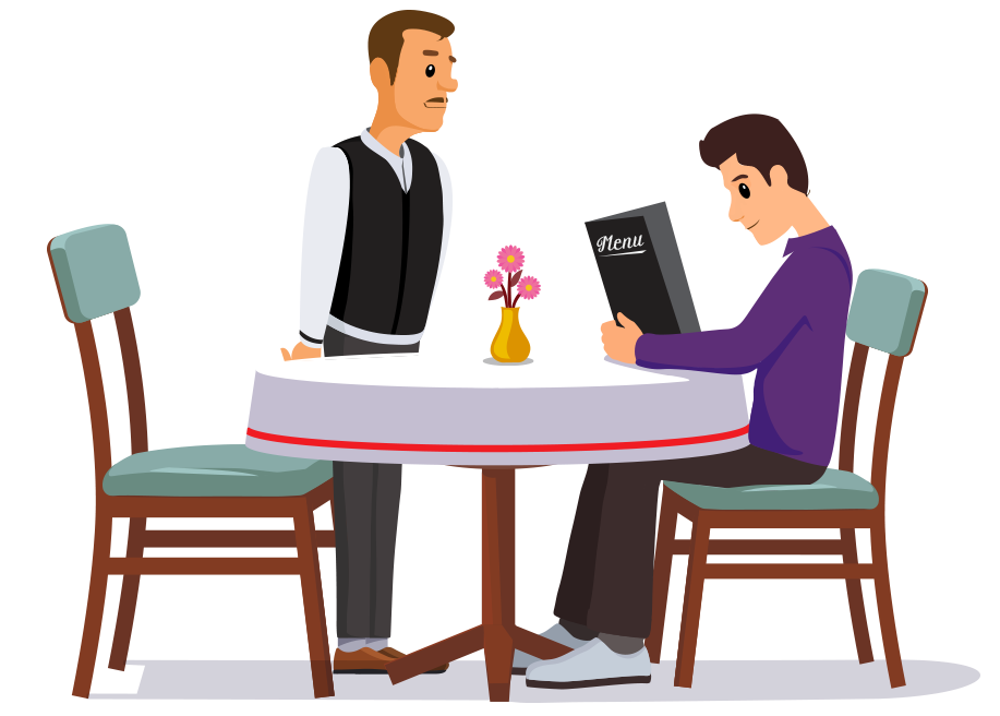 Clipart restaurant waiter. How to use ireap