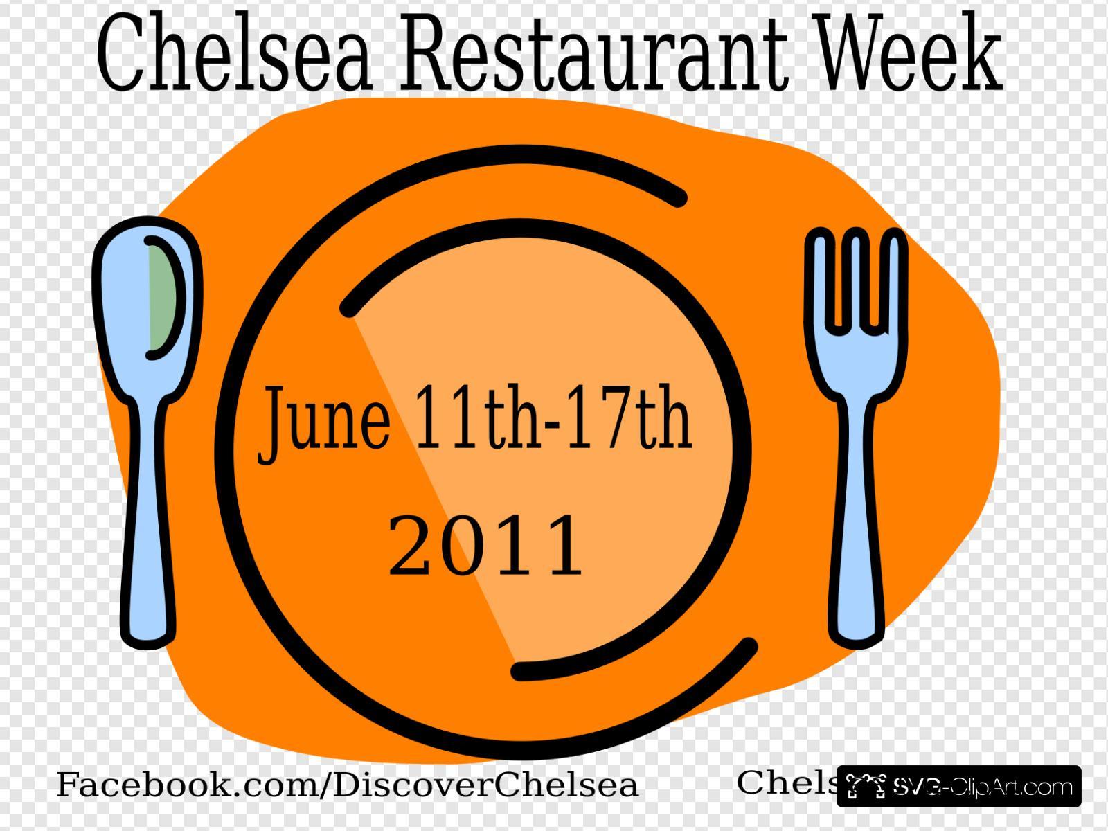 Clipart restaurant week. Chelsea clip art icon