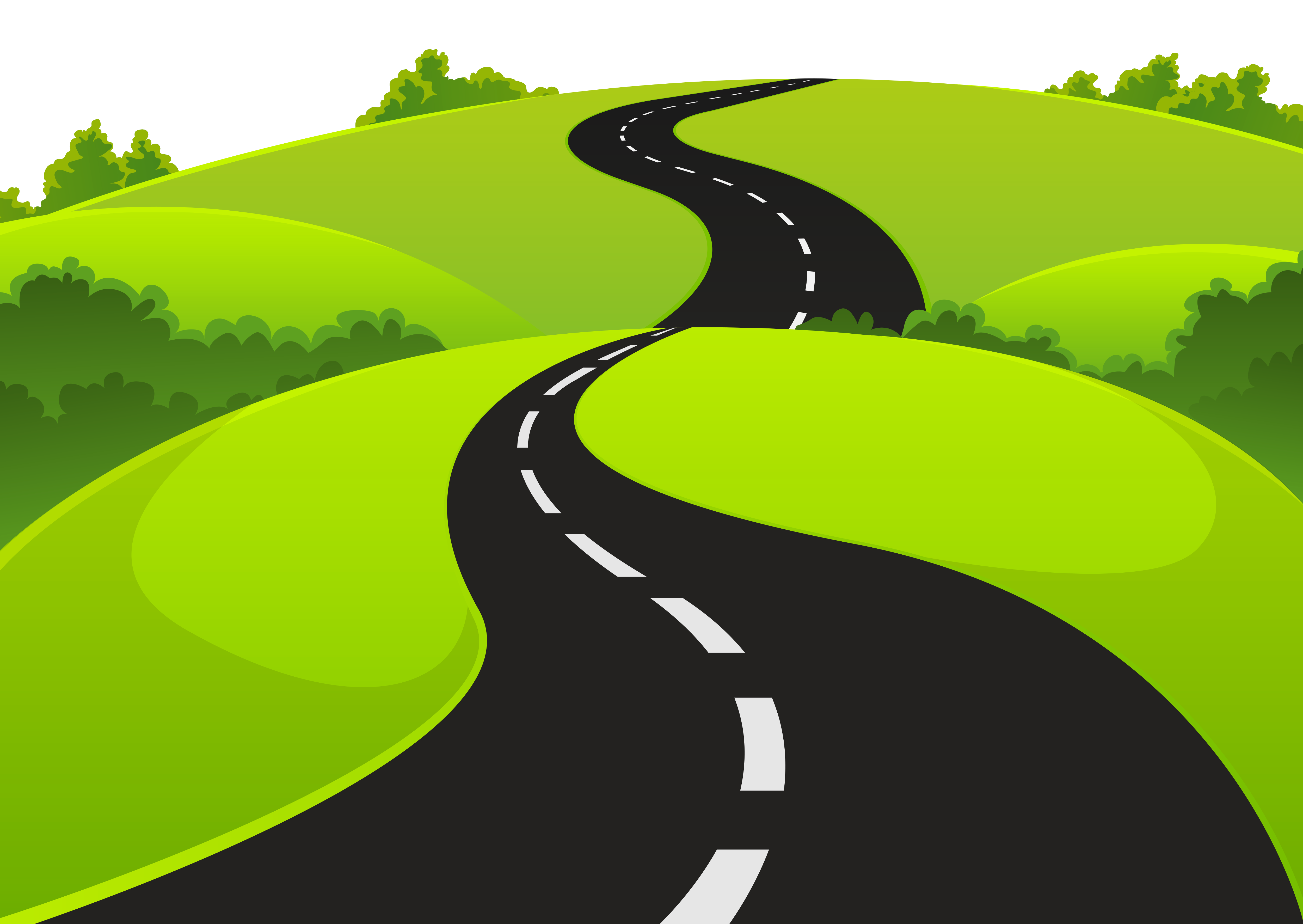 Clipart road. And grass png picture
