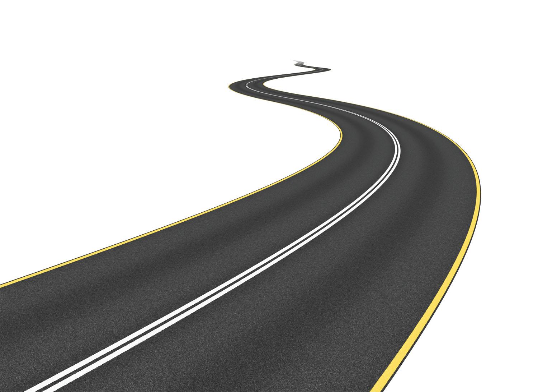 Clipart road. Long curvy