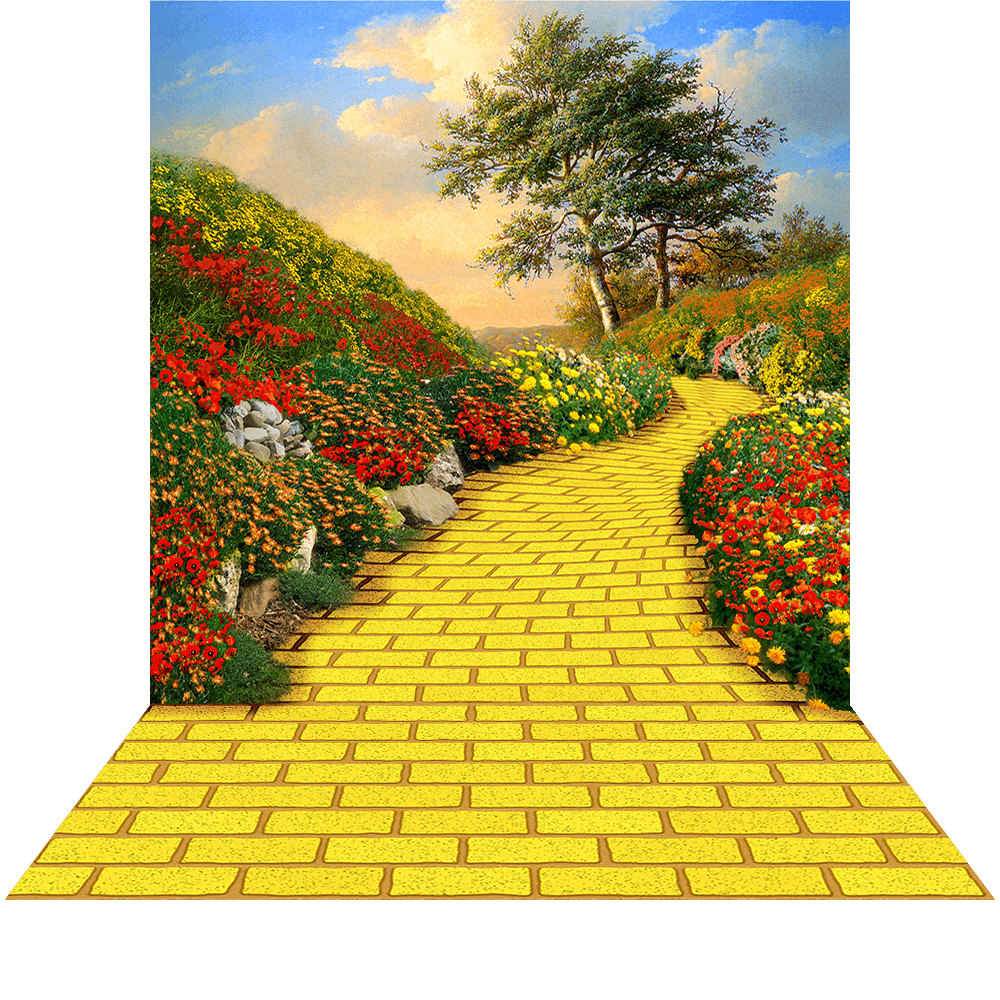 Yellow brick cilpart lovely. Clipart road backdrop