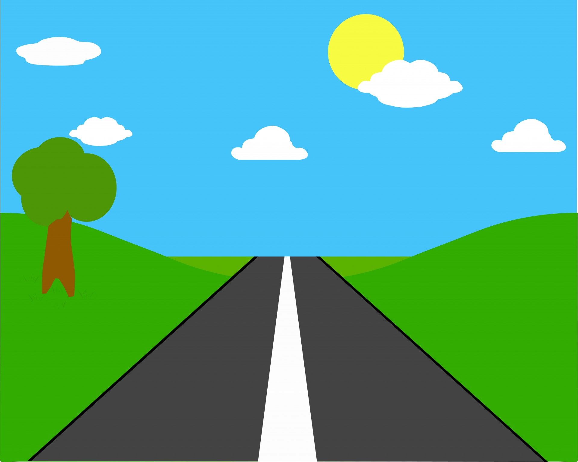 Free open cliparts background. Highway clipart countryside