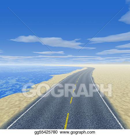 Scene stock illustration gg. Clipart road beach road