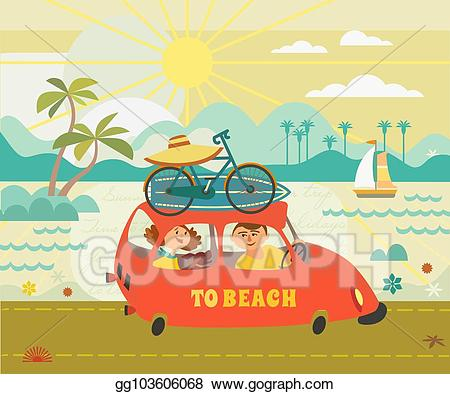 Vector art time to. Clipart road beach road