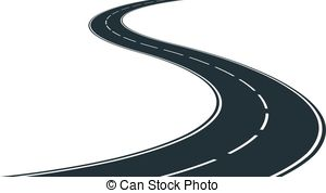 Bendy road . Highway clipart ppt