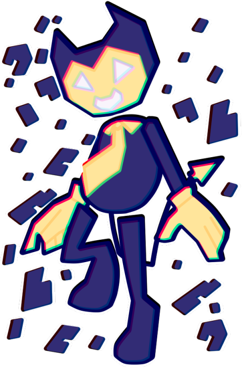 Clipart road bendy. Virus tumblr au