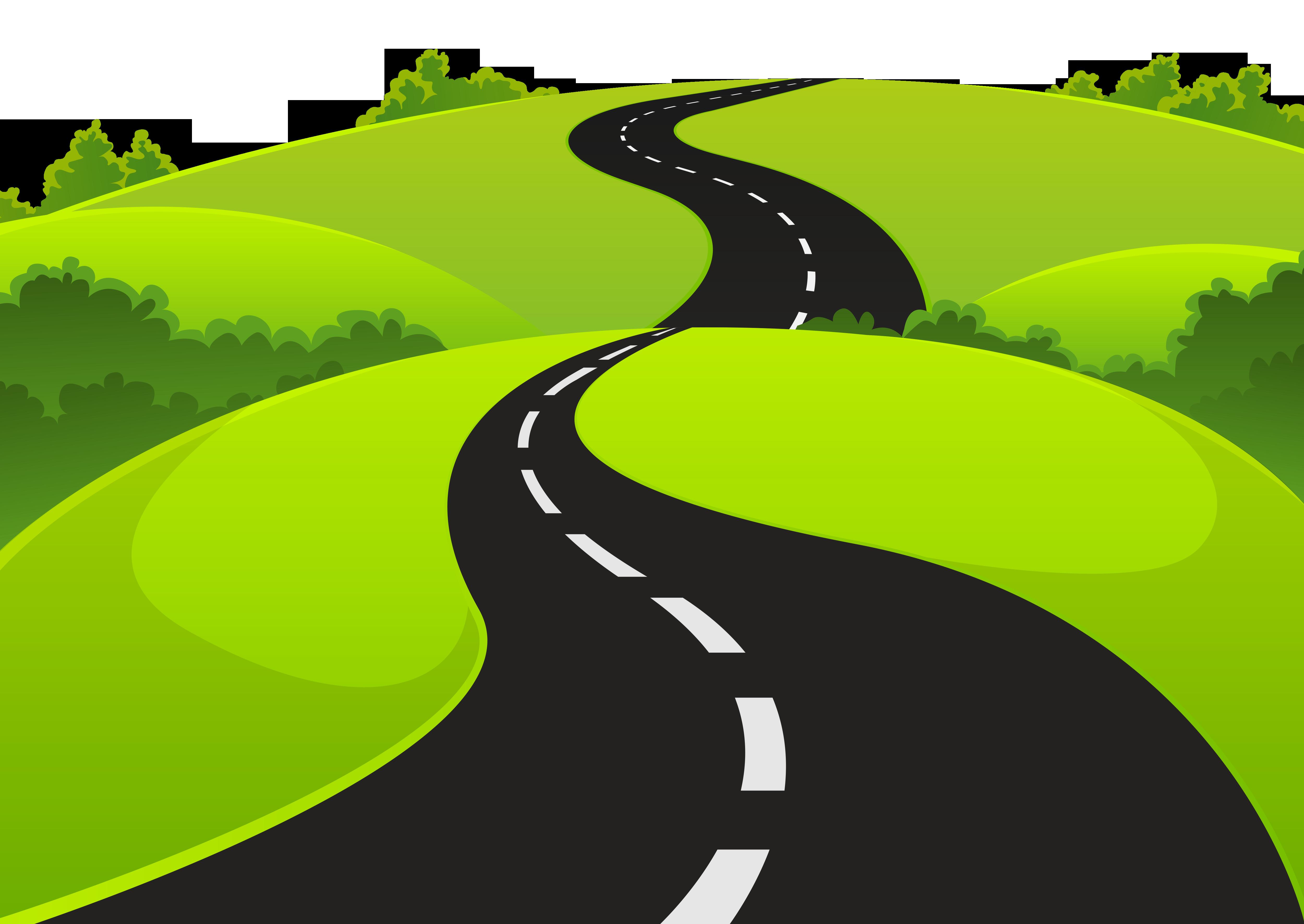 Bendy road . Highway clipart pathway