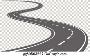 Clipart road curving. Curved clip art royalty