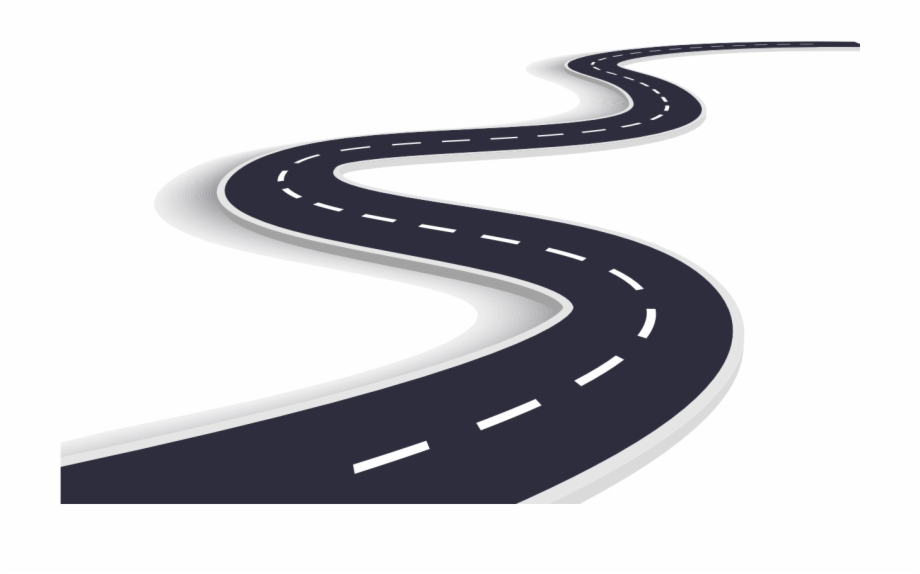 Clipart road curvy road. Curved winding png transparent