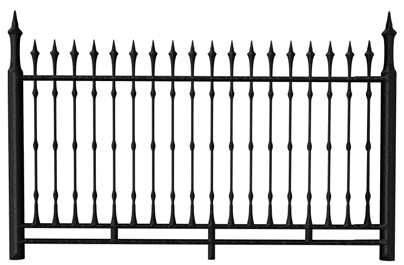 Transparent black iron png. Clipart road fence