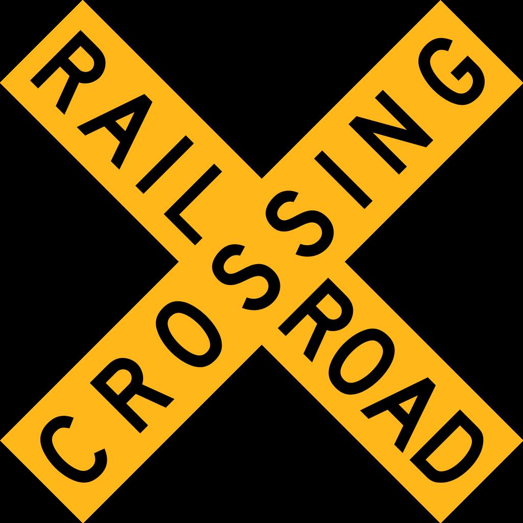 Clipart train sign. File botswana road railroad