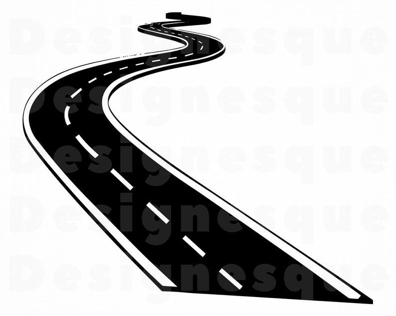 Svg highway files for. Clipart road file
