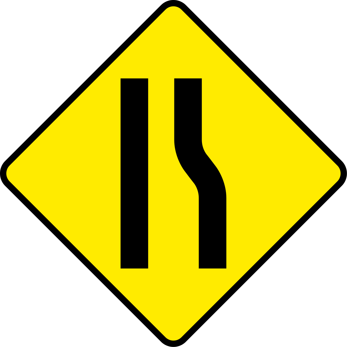 Clipart road file. Ireland sign w r
