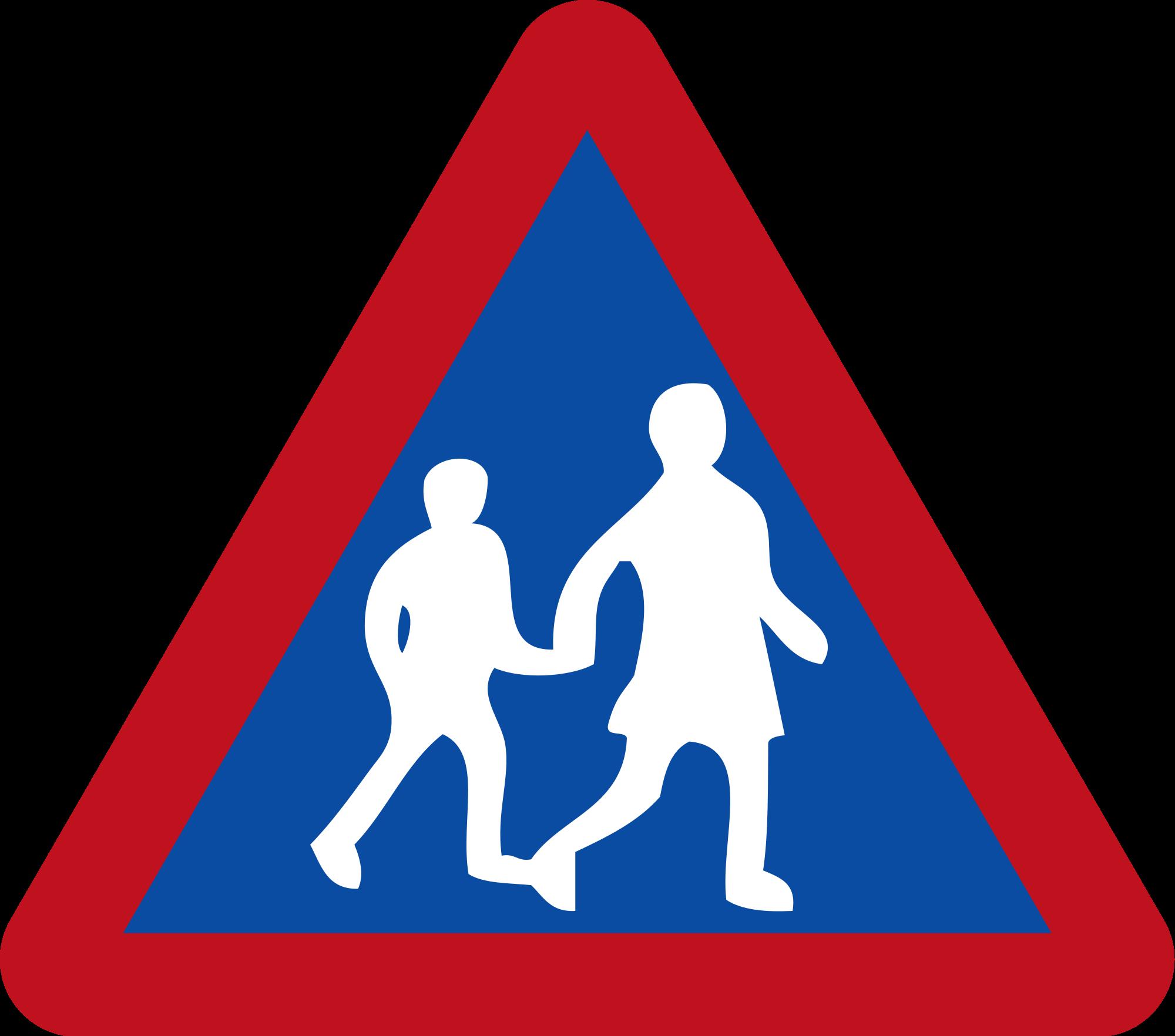 Children crossing sign botswana. Clipart road file