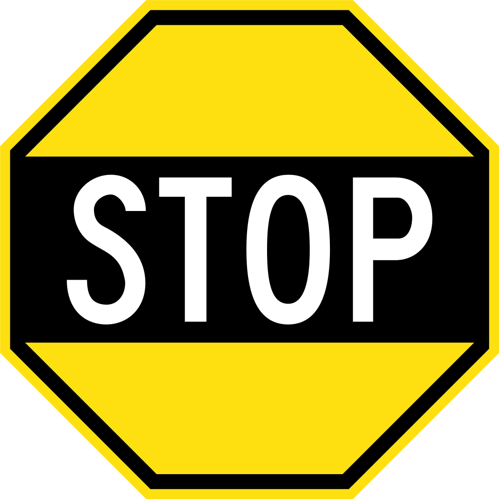 Early australian sign stop. Clipart road file