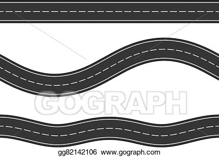 Vector seamless roads . Clipart road horizontal