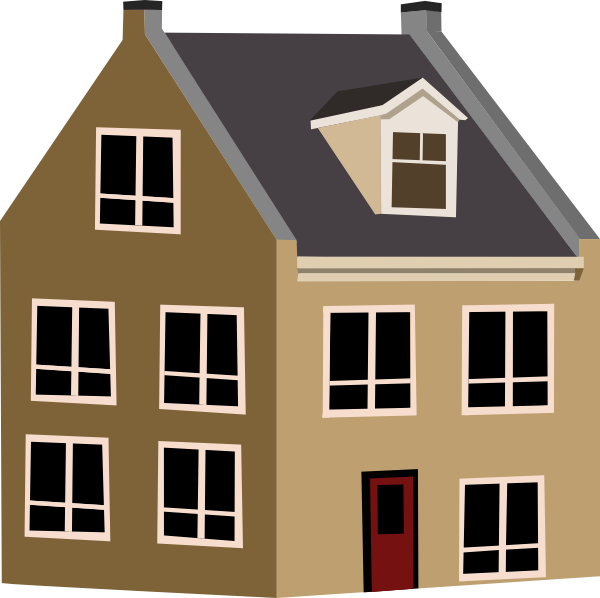 Village clip art at. Clipart road house
