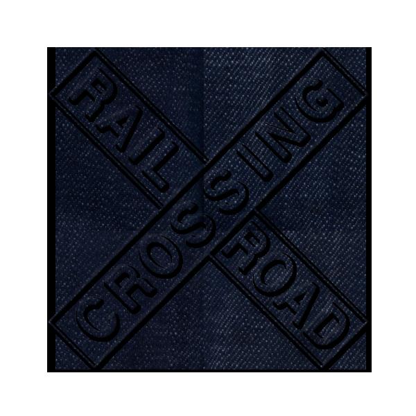 Clipart road icon. Image rail crossing dark
