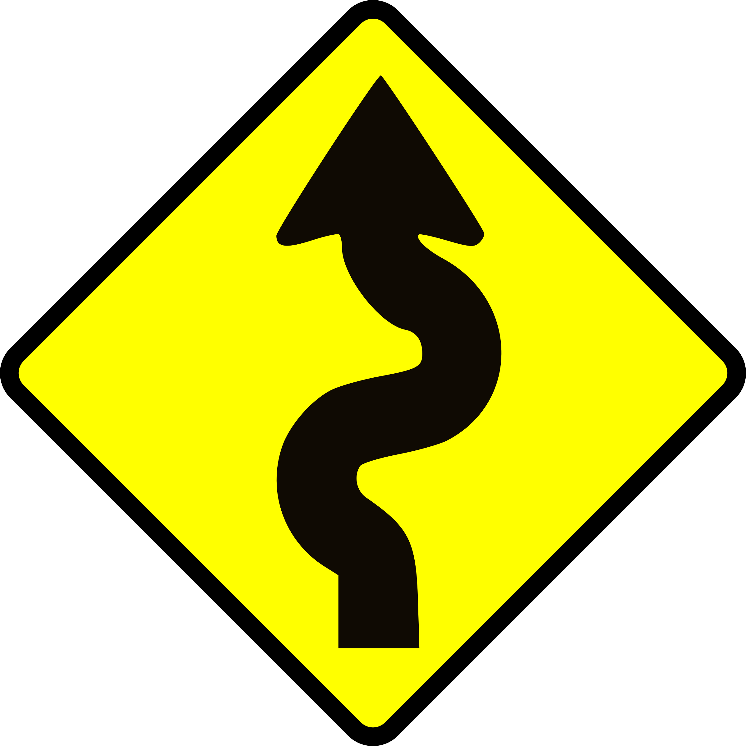 Caution winding icons png. Clipart road icon