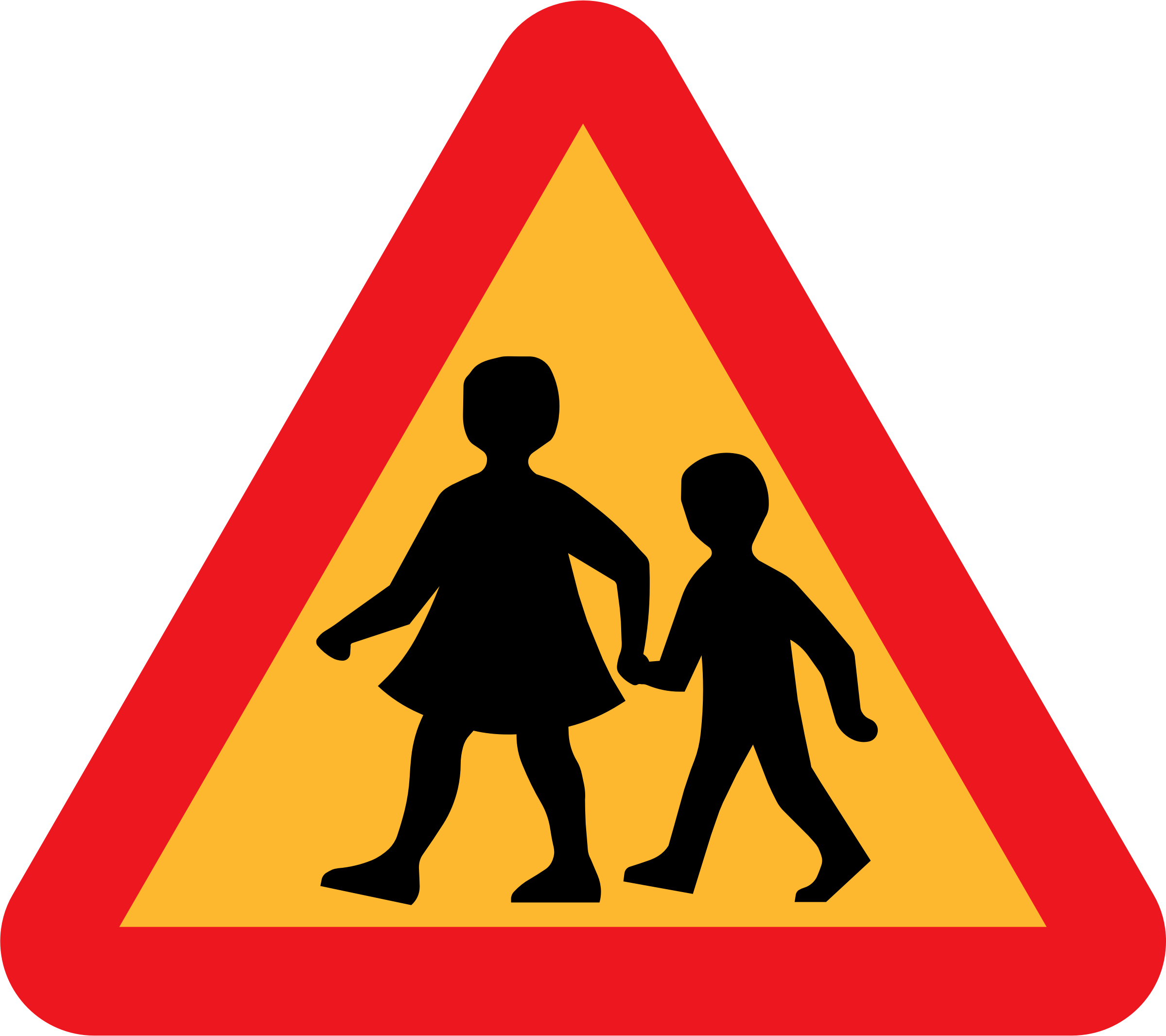 Hands clipart collaboration. Children crossing road sign