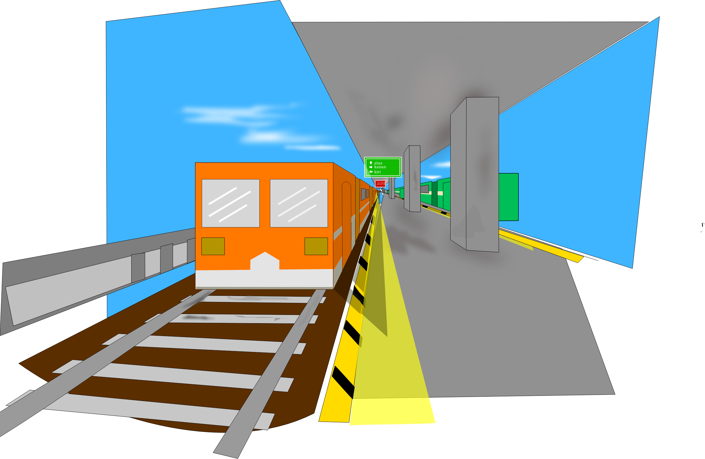Remix train station big. Staircase clipart animated