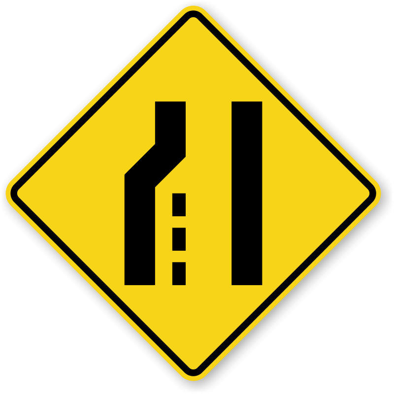 Mutcd merge signs left. Clipart road intersection