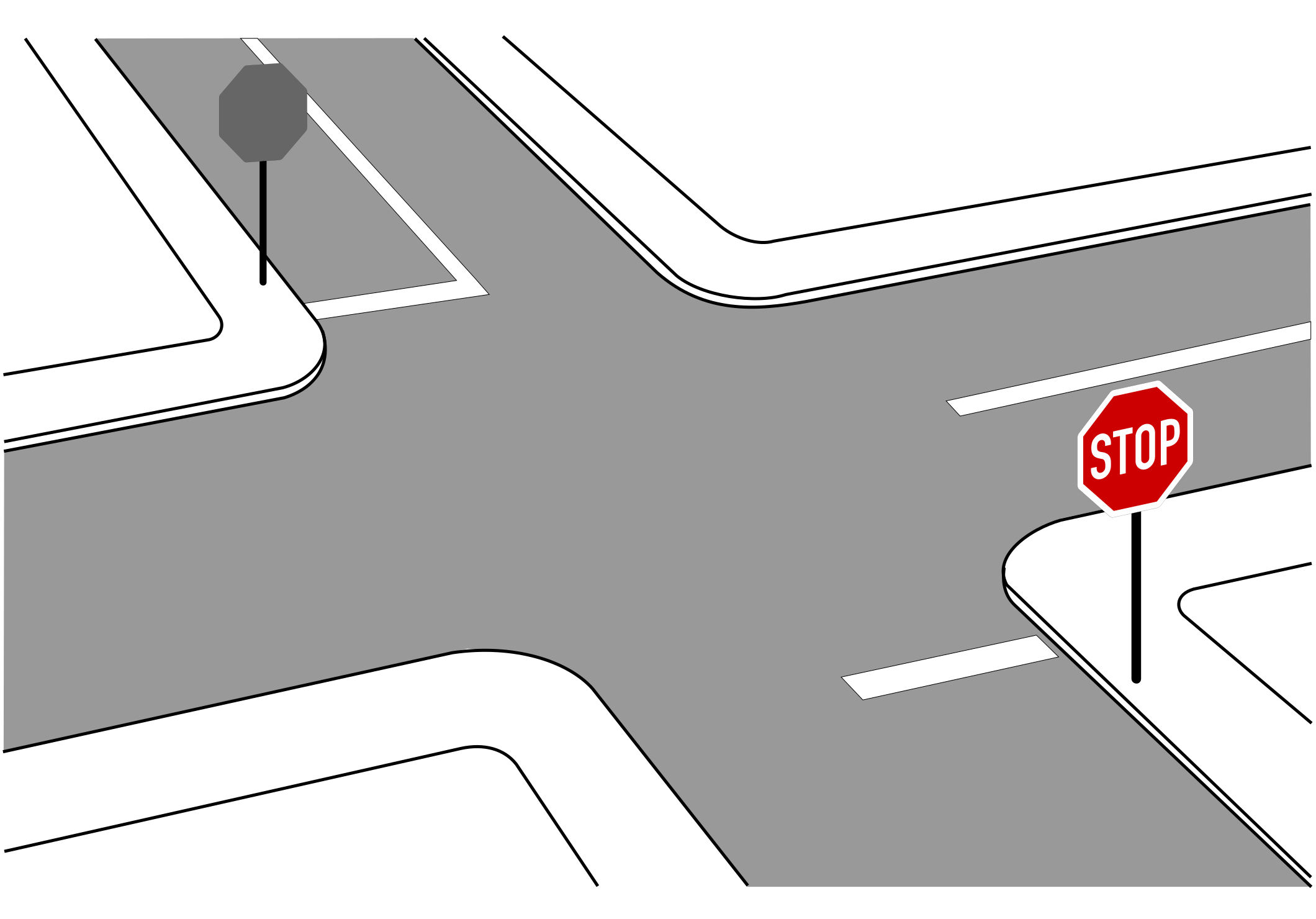 Open simulation interface osi. Clipart road intersection