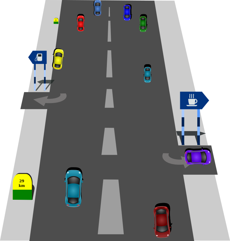 Clipart road intersection. Medium image png
