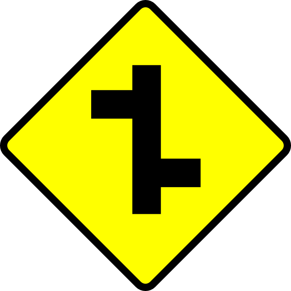Sign clip art at. Clipart road junction
