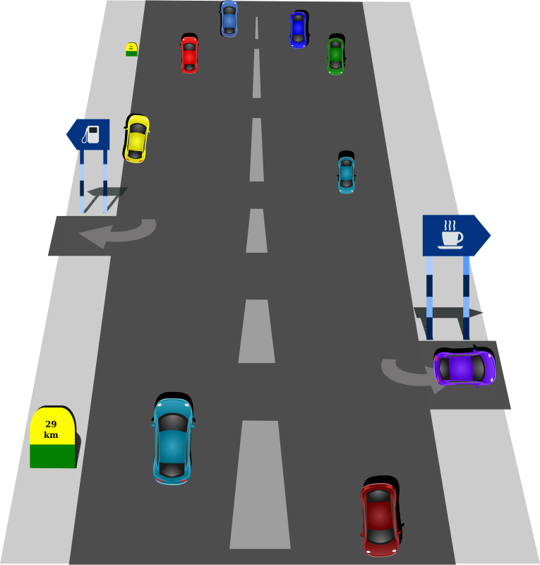 Clipart road junction.  collection of highway