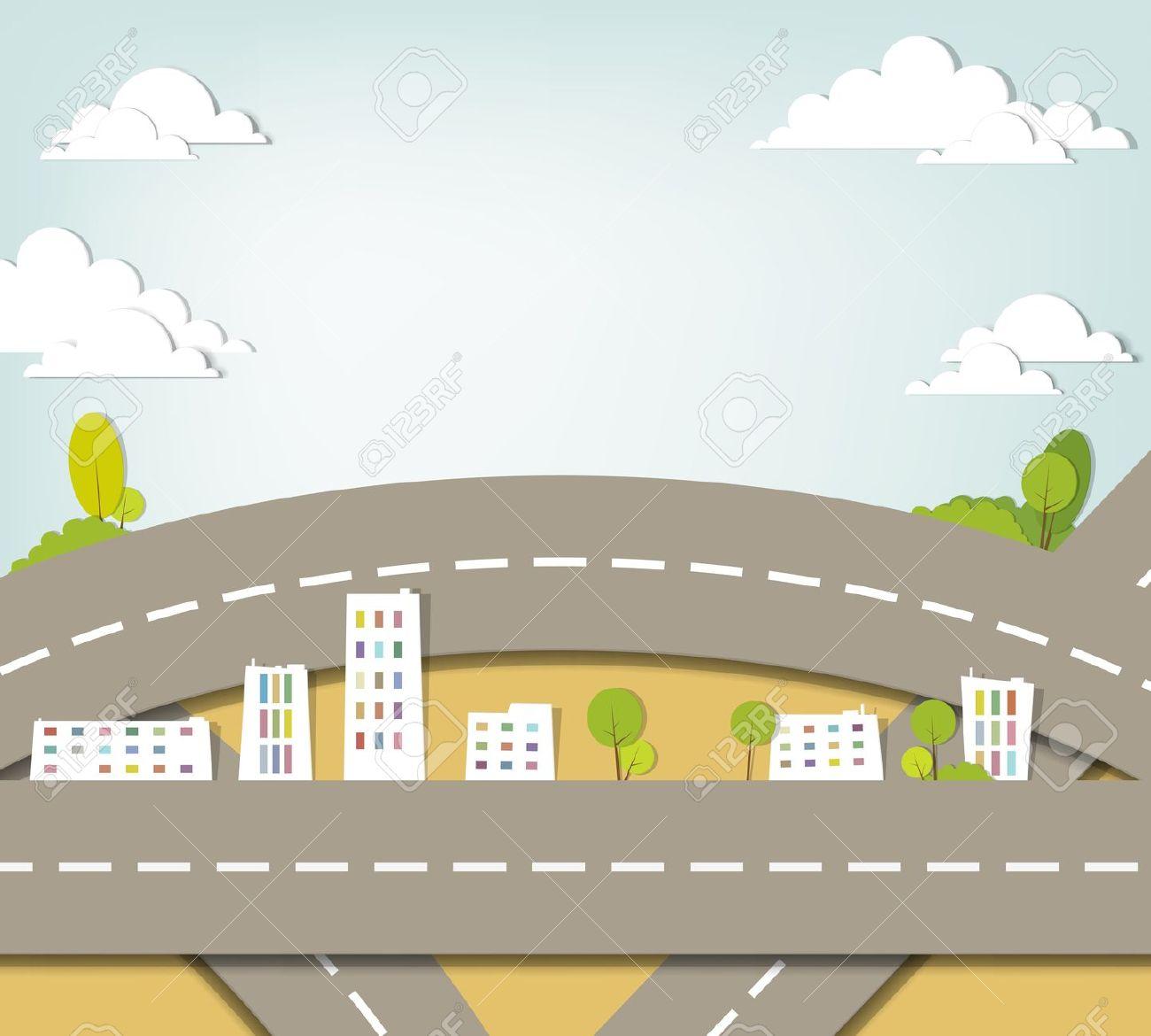 Clipart road landscape. Clip art library