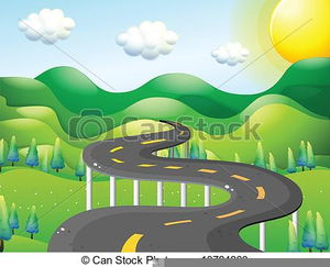 Clipart road mountain road. Free images at clker