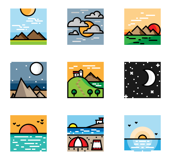 Clipart road mountain road. Icons free vector landscapes