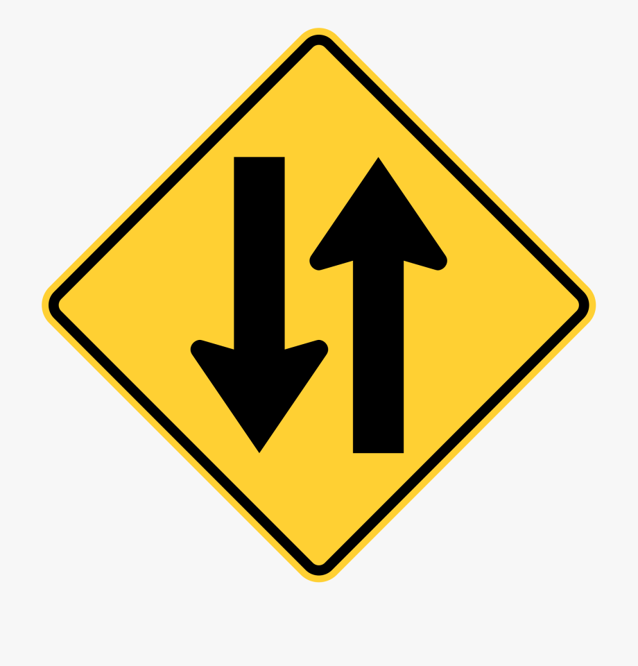 Clipart road narrow road. Highway way traffic sign