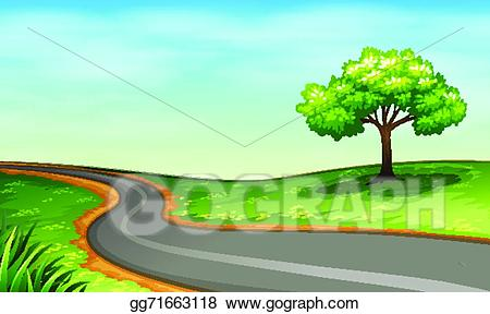 Vector stock a illustration. Clipart road narrow road