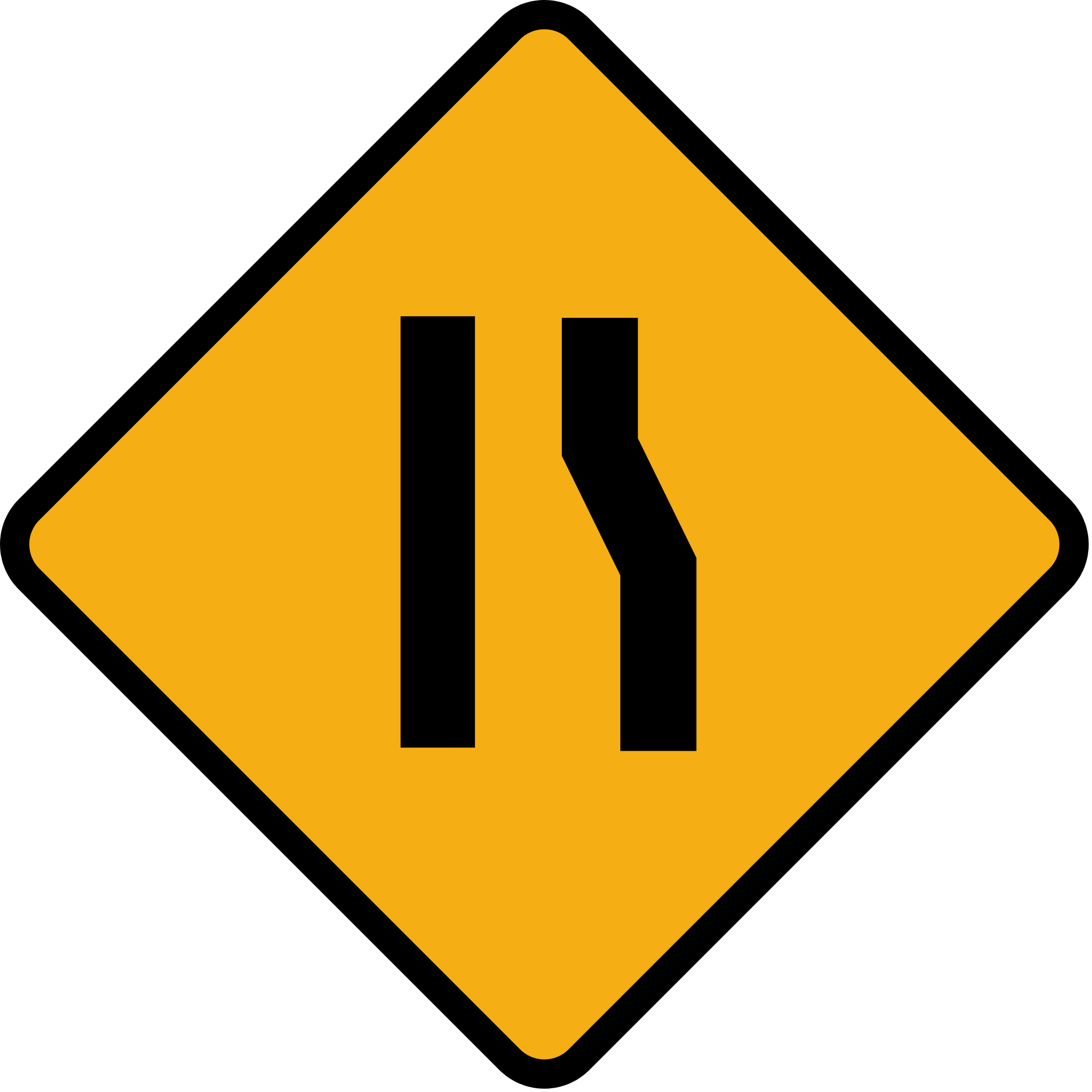 File diamond sign right. Clipart road narrow road